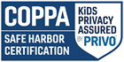 COPPA Safe Harbor Certification by PRIVO